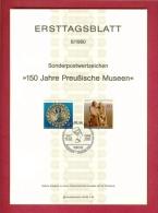 GERMANY-BERLIN 1980, Ersttagblatt Nr 6, 150 Jahre Preussische Museen - [5] Berlin