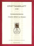 GERMANY-BERLIN 1980, Ersttagblatt Nr 8, Friedrich Wilhelm Von Steuben - [5] Berlin