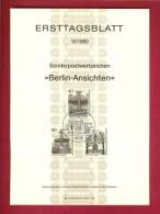 GERMANY-BERLIN 1980, Ersttagblatt Nr 10, Berlin-Ansichten - [5] Berlin