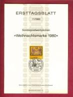 GERMANY-BERLIN 1980, Ersttagblatt Nr 11, Weihnachtsmarke - [5] Berlin