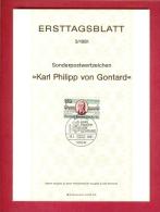 GERMANY-BERLIN 1981, Ersttagblatt Nr. 3, Karl Phillipp Von Gonthard - [5] Berlin