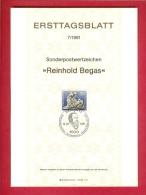 GERMANY-BERLIN 1981, Ersttagblatt Nr. 7, Reinhold Begas - [5] Berlin