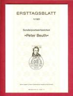 GERMANY-BERLIN 1981, Ersttagblatt Nr. 11, Peter Beuth - [5] Berlin