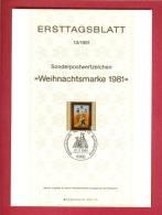 GERMANY-BERLIN 1981, Ersttagblatt Nr. 13, Weihnachtsmarke - [5] Berlin