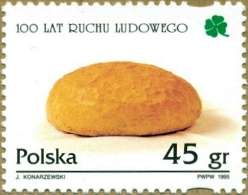 POLAND 1995 100 YEARS POLISH PEOPLE´S MOVEMENT POLITICAL PARTY NHM Communism Socialism Socialists Bread Farming Farmers - Agriculture
