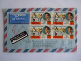 Lettre Brief Tanzania 1976 Vers Belgique JO Montreal Runner Filbert Bayi Courir Loper Seamen's Mail - Athlétisme
