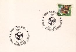 1985 Italia Torino Cristallografia Minerali Minerals Geology Mineraux Mineralogie Mineralien - Geology