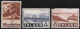 ICELAND 1948, 1957 SCOTT 249, 303-304 VALUE US $0.80 - Usati