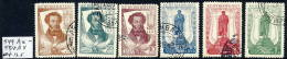 SOVIET UNION 1937 Pushkin Centenary Set Perforated 12½:12½ Used.   Michel 549A-54A - 1923-1991 USSR
