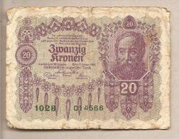 Austria Ungheria - Banconota Circolata Da 20 Corone P-76 - 1922 - Autriche