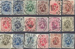 _Zm005: Restje : 18 Zegels... Om Verder Uit Te Zoeken..... Met Betere Stempels... - 1929-1937 Lion Héraldique