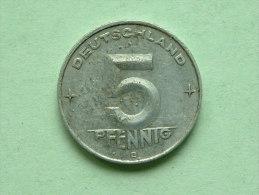 1952 E - 5 PFENNIG / KM 6 ( For Grade , Please See Photo ) ! - [ 6] 1949-1990 : RDA - Rep. Dem. Tedesca