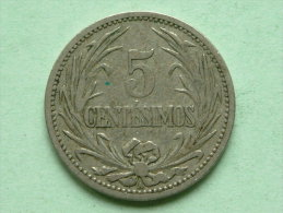 1901 A - 5 CENTESIMOS / KM 21 ( Uncleaned Coin / For Grade, Please See Photo ) !! - Uruguay