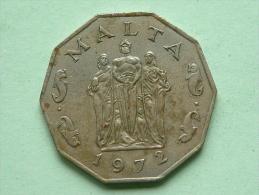1972 - 50 Cents / KM 12 ! - Malta