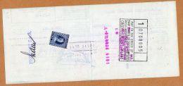 Marca Da Bollo Perfin Perforated Perforé Sur Cheque Antwerpen New York Credito Italiano Frimont Milano  - 2 Scans - Zonder Classificatie