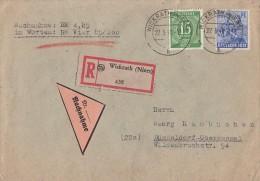Gemeina. R-NN-Brief Mif Minr.922,955 Wickrath 27.3.48 - Gemeinschaftsausgaben