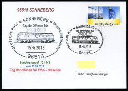 91519) BRD - SoST-Karte 10/144 - 96515 SONNEBERG Vom 15.6.2013 - PIKO Tag Der Offenen Tür - Diesellok - [7] República Federal