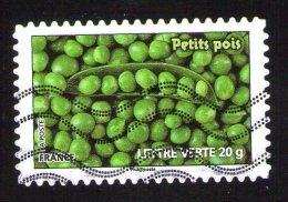 France 2012 Oblitéré Used Légumes Pour Une Lettre Verte Petits Pois Y&T 739 - France