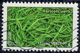 Timbre Oblitéré Used Stamp Carnet Des Légumes Pour Une Lettre Verte Haricots Verts FRANCE 2012 Y&T  742 - France
