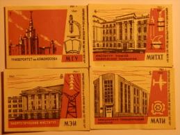 USSR 9 Pieces Matchbox Labels 1961 - Boites D'allumettes - Etiquettes