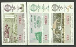 Estonia Estonie Estland 3 X Lottery Ticket Lotto Los 1986-1990 - Lottery Tickets