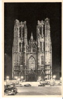 Publicité-Chocolat Martougin-Bruxelles-Eglise Ste-Gudule-Illumination-Vieilles Voitures-Oldtimer- Vintage Cars - Werbepostkarten