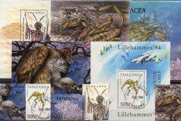 5 Topic Blocks+Bl.-Marke Tansania O 30€  Fauna Nature Flower Sport Flora Philatelic Bf Nature Bloc Art Sheet Of Tanzania - Collections (en Albums)