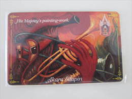 Thailand Chip Phonecard,Akara Silapin - His Majesty´s Painting-work,used - Thailand