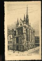 Paris La Sainte Chapelle Eau Forte 25 Par Berengier - Arrondissement: 01