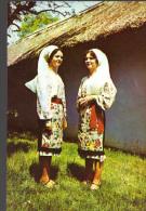 Postcard,  Romania, Folklore, Costume From Buzau County - Trachten