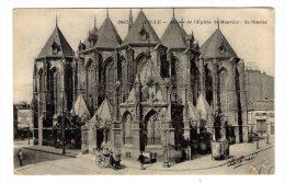 Cp , 59 , LILLE , La Pensée , 2063 , Abside De L'église Saint Maurice , St , Vierge - Lille