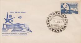Enveloppe 1er Jour   BRESIL     Exposition  Universelle  BRUXELLES   1958 - 1958 – Bruxelles (Belgique)