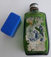 Flacon Pastis 51 De Pernod, 20cl, Gravé Pernod Sous Le Flacon, Vide, Poids 280g, Verre, Plastic Bleu Et Capsule Métal - Other Bottles