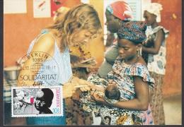 "Germany GDR 1988, Maximun Card ""International Solidarity"" - [6] République Démocratique"