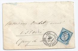 N° 60 CERES 25 C / CLERMONT FERRAND PUY DE DOME POUR ISSOIRE / 21 Juin 1875 - 1849-1876: Période Classique