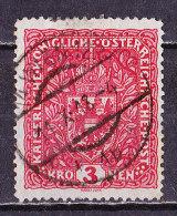 Austria 1917-3  Kr. Carminio  Usato - 1850-1918 Impero