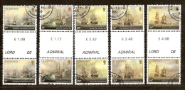 Guernsey Guernesey 1986 Yvertn° 354-58 (°) Used Cote ++ 18,00 Euro Ships Boten Bateaux - Guernsey