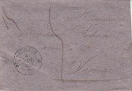 BRUMATH (Type 12) Du 4.11.1833 Sur Enveloppe Pesante Pour Sarrebourg - Elzas-Lotharingen