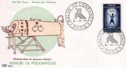 """France: 1959 Fdc Salon De L'enfance """"vaincre La Poliomyélite"""" - Disease"""