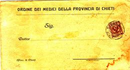 1917 STORIA POSTALE ORDINE DEI MEDICI DELLA PROVINCIA DI CHIETI - Marcophilia