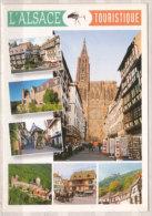 L'Alsace Pittoresque , Mehrbildkarte , Colmar - Mont Sainte Odile - Eguisheim - Chateau Du Haut Koenigsbourg - Obernai - - Alsace