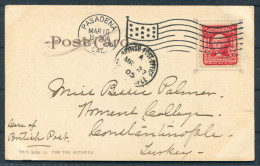 1905 USA Hotel Coronado Postcard California Pasadena Flag - Constantinople British Post Office Turkey - United States