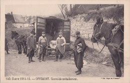 ¤¤  -  140   -  Guerre 1914-18  -   OFFEMONT   -   Convoi De Ravitaillement   -  Attelage De Chevaux   -  ¤¤ - Offemont