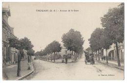THOUARS (Deux-Sèvres) - Avenue De La Gare - Animée - Attelage - Thouars