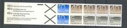 Nederland 1976 Stamp Booklet Crouwel NVPH PB21a  Yvert C1042b(II) MNH ** - Carnets Et Roulettes