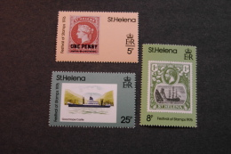 St Helena 295-97 Festival Of Stamps Stamp On Stamp MNH 1976 A04s - Saint Helena Island