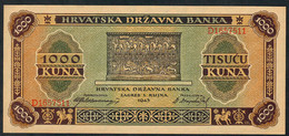 CROATIA  P12   1000 KUNA  1943    UNC. - Croatia