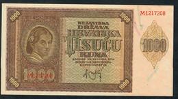 CROATIA  P4   1000  KUNA    1941    UNC. !  ! - Croatia