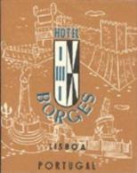 Etiquette De Bagage -  HOTEL BORGES - LISBOA - LISBONNE (PORTUGAL) - Hotel Labels