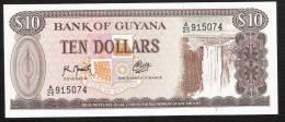 GUYANA P23f   10  DOLLARS   1992  Signature 9  UNC. - Guyana